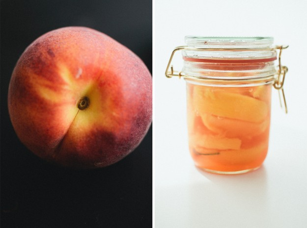 Pickling fresh summer peaches
