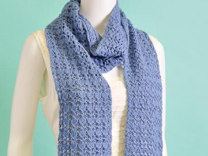 Reversible Rib and Lace Scarf