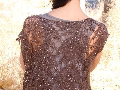 Sequined mohair lace vest kit
