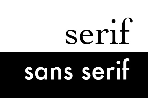 Serif versus sans serif
