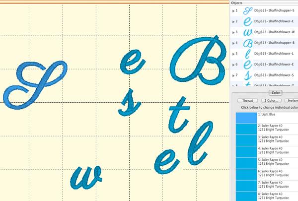BX Font Select Letters