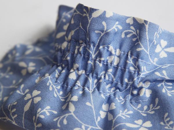 Machine-smocked fabric