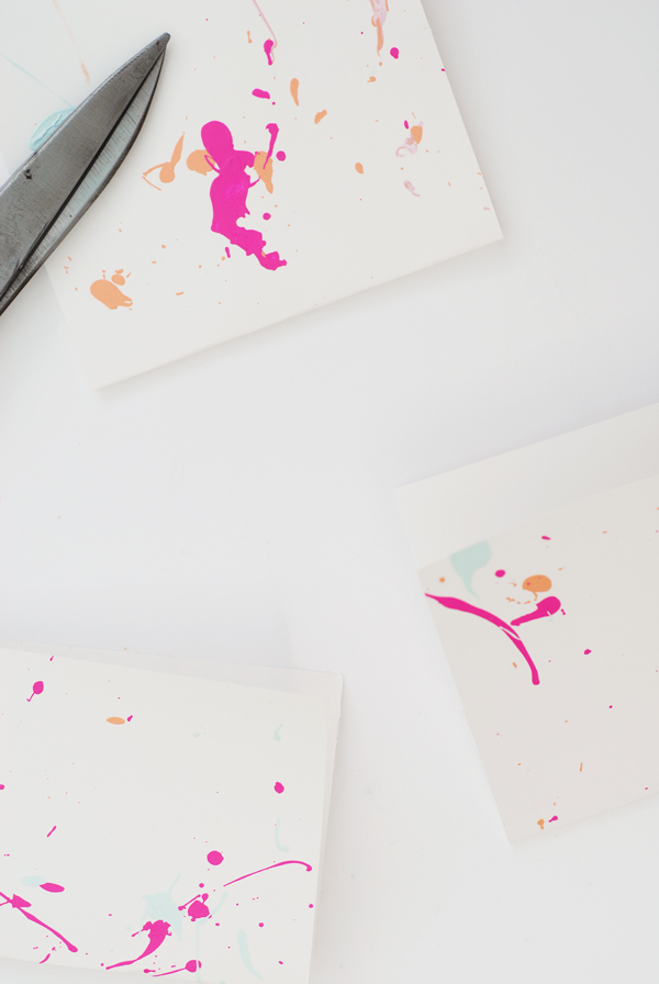 Splatter Paint Greeting Cards
