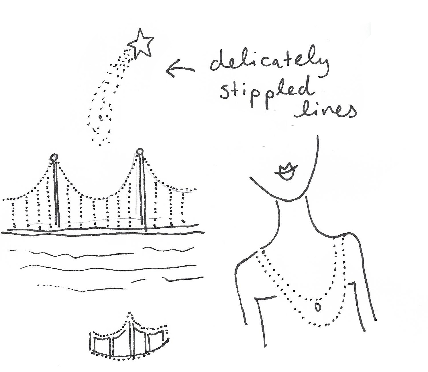 Dots are a great pen stroke for your illustrations