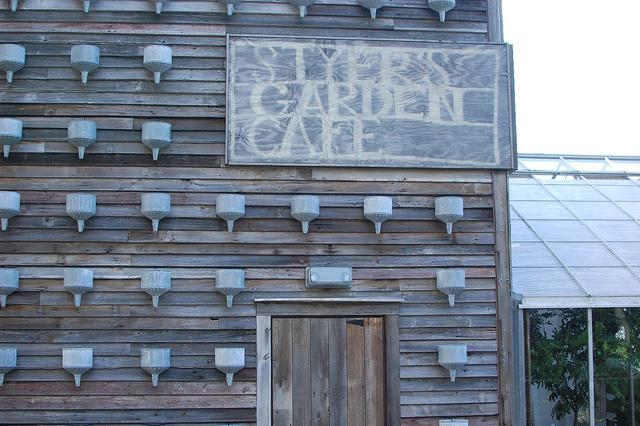 Sign for Styer's Garden Cafe