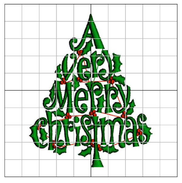 Grand Slam Very Merry Christmas embroidery design