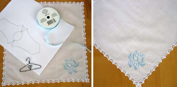 Supplies for your wedding dress hankie
