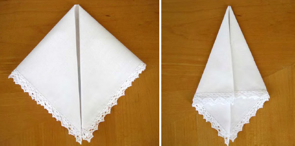 press and fold your hankie