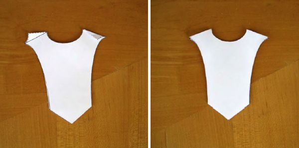Top bodice paper template