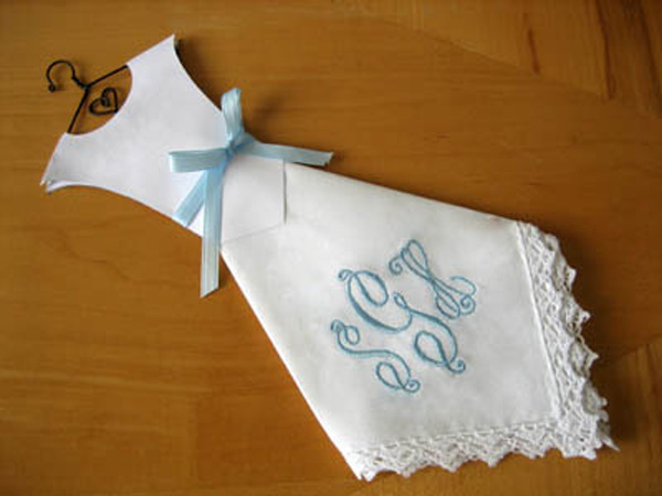 Wedding Dress Hankey tutorial by Bumble Bee LInens for Craftsy!