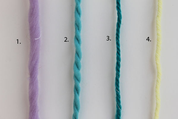 Different yarn plies