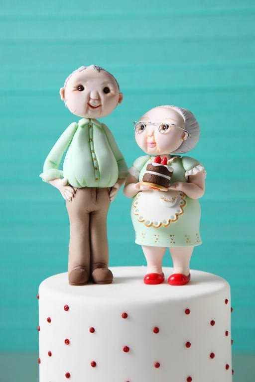 Grandparents Fondant Toppers