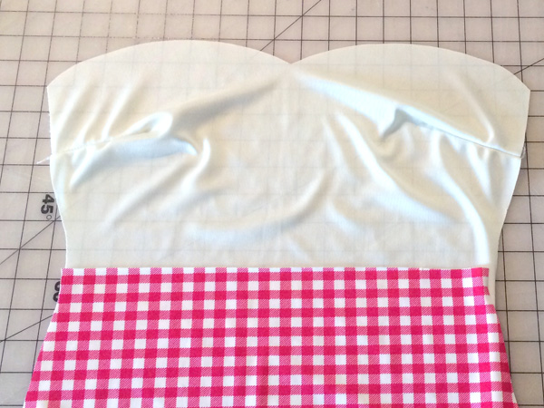 sew front to lining