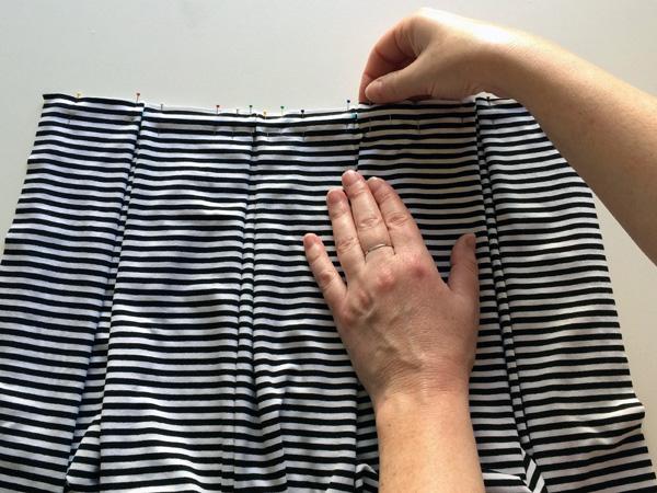 fold and pin pleats