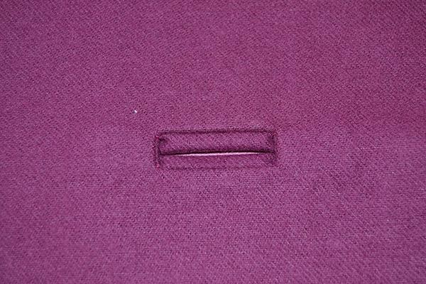 final bound buttonhole