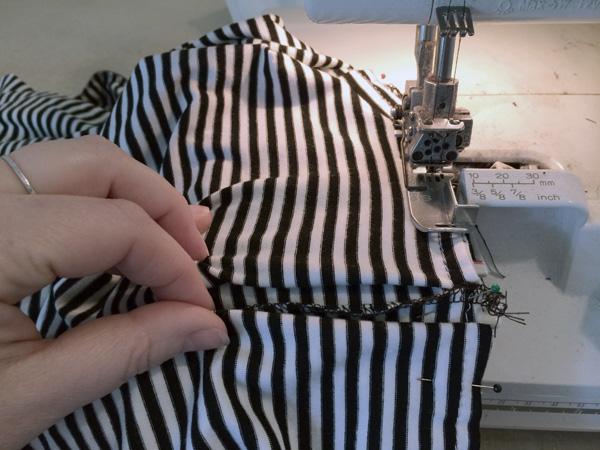 sew skirt to bodice