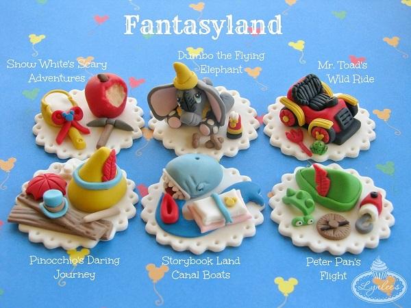 Fantasyland fondant toppers