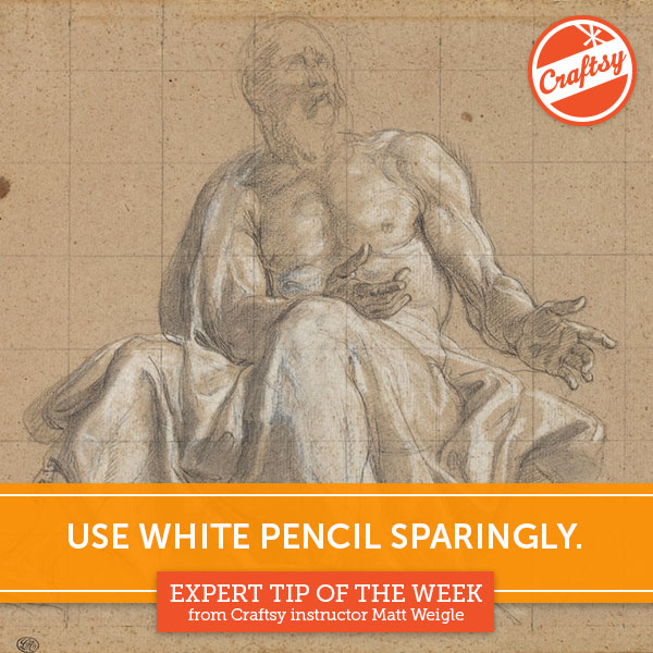 Drawing Tip: Use White Pencil Sparingly
