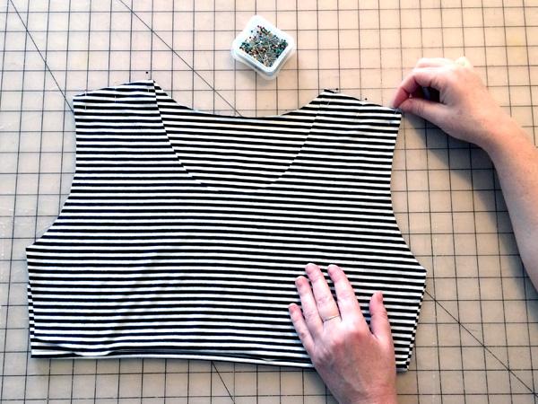 sew the shoulder seams