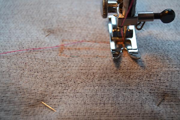 stitch around the bound buttonhole box