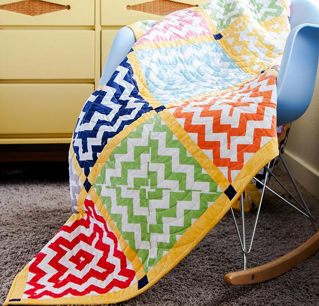 Riley Blake Chevron Squares Quilt Kit
