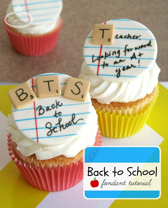 Back to School Cupcakes Fondant Topper Tutorial