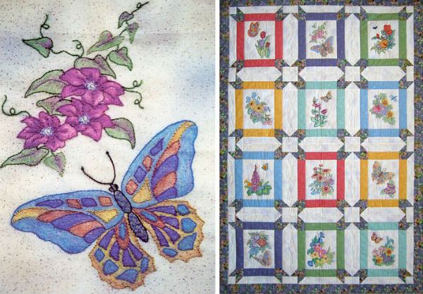 Butterfly Garden quilt via Black Cat Creations