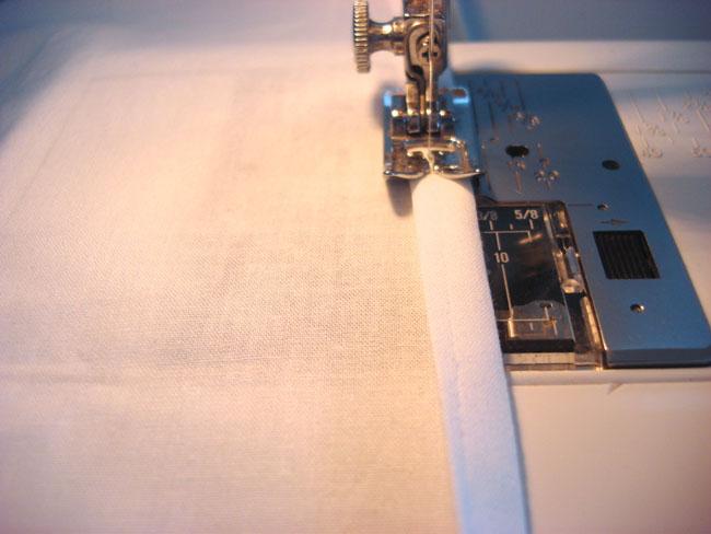 sewing curtain hem