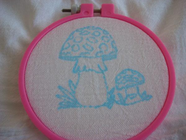 mushroom embroidery pattern
