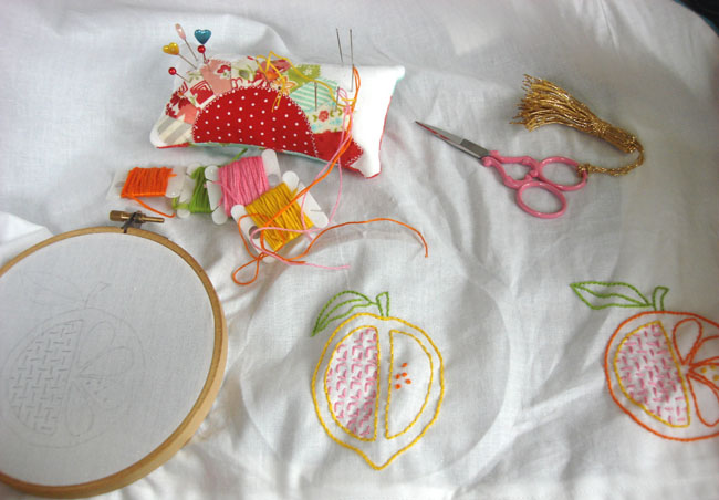 Embroidery supplies for making curtains