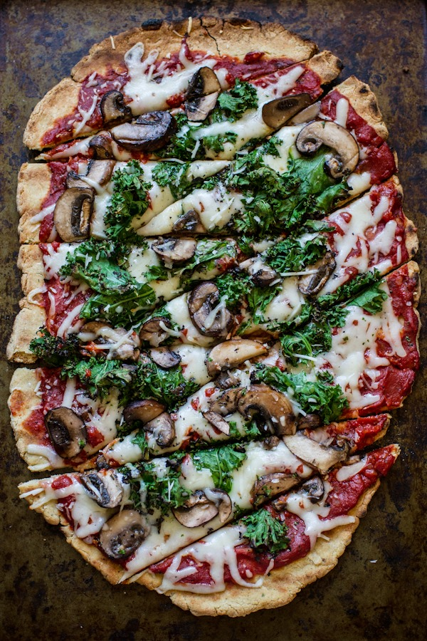 Delicious veggie pizza made with gluten-free dough