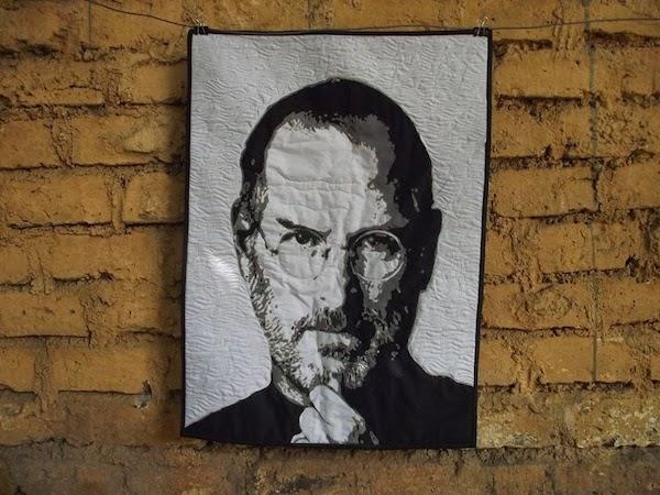 Steve Jobs quilt top!