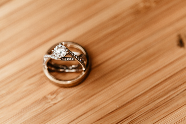 Detail of wedding rings