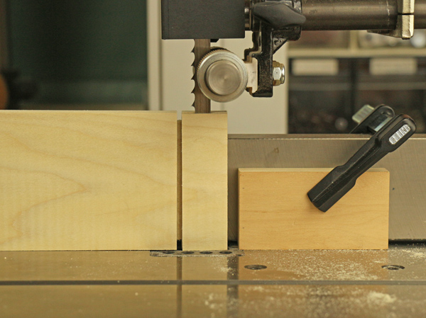 cutting tenon on bandsaw
