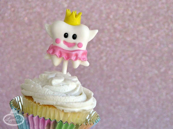 Tooth Fairy Fondant Cupcake Topper