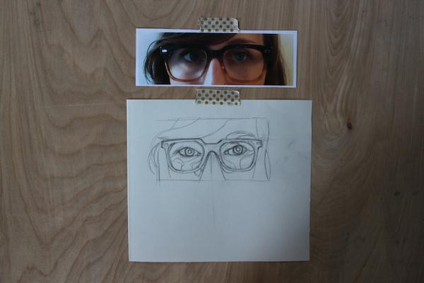 Eyes added behind glasses