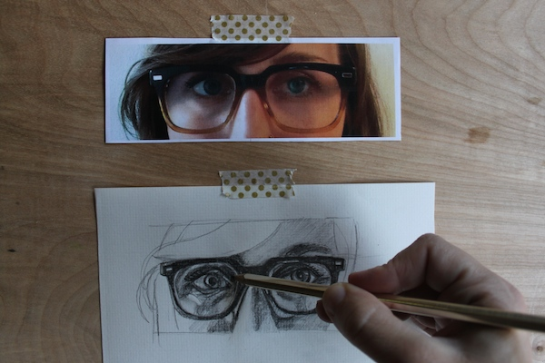 Hand shading in eyes