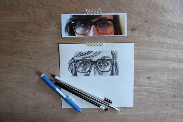 Finished glasses drawing