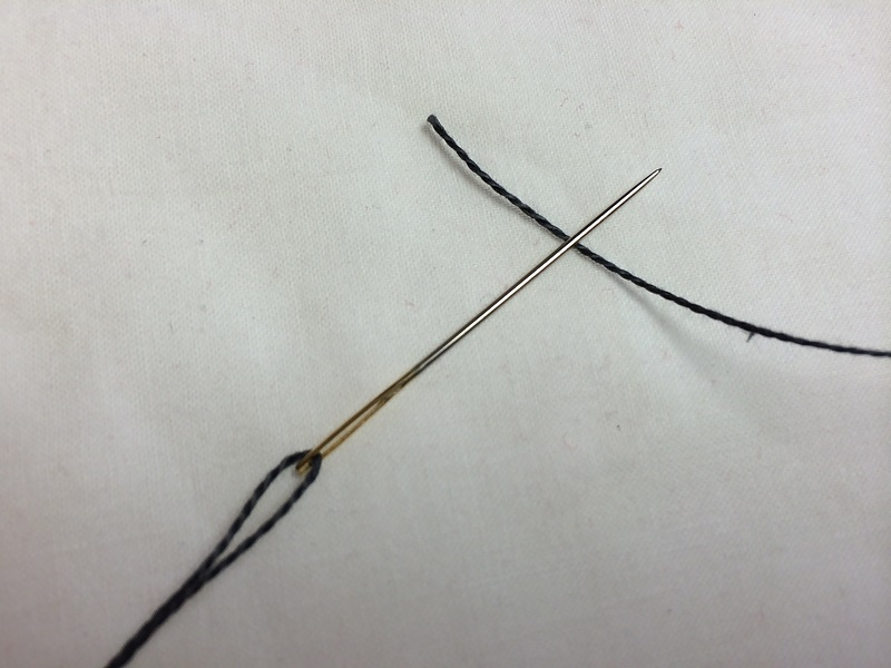 needle and thread positioning