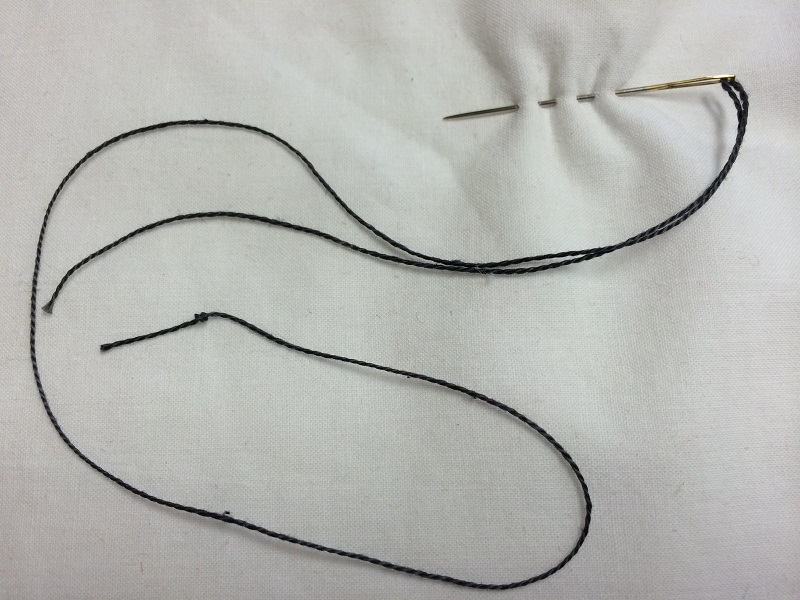 loading big stitches onto needle