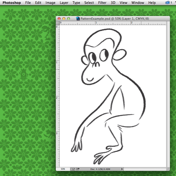 Drawing the monkey