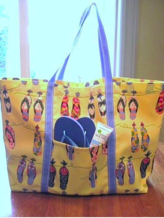 Hand-sewn tote bag on Bluprint