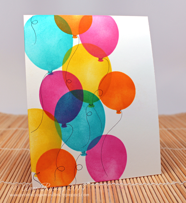 Finished Balloon Card