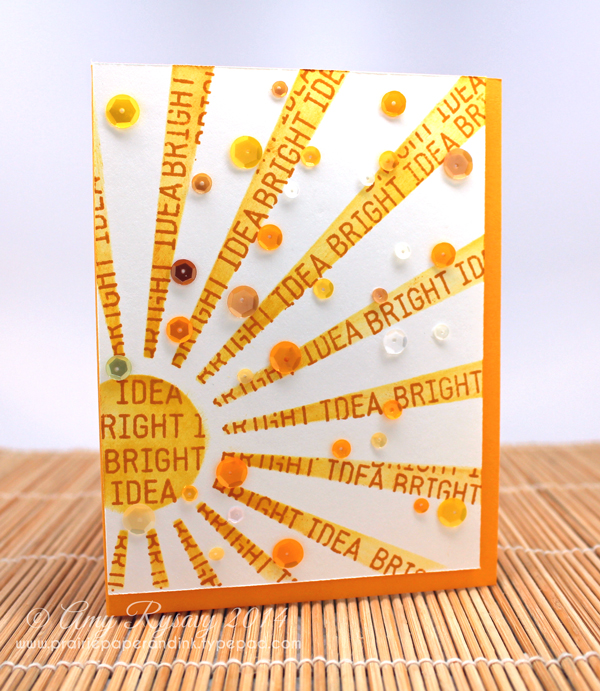 Finished Sun Ray Card