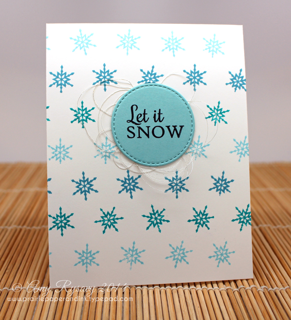 Finished Snowflake Card