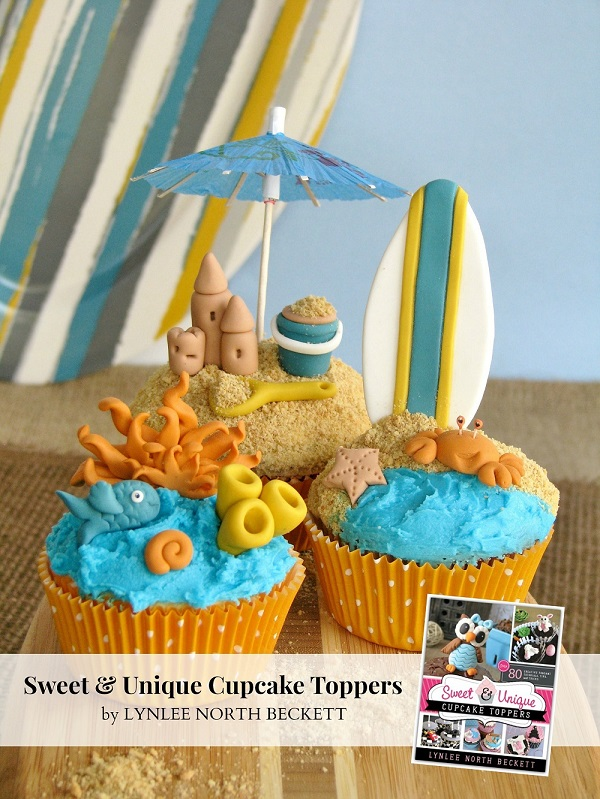 Surf's Up cupcakes