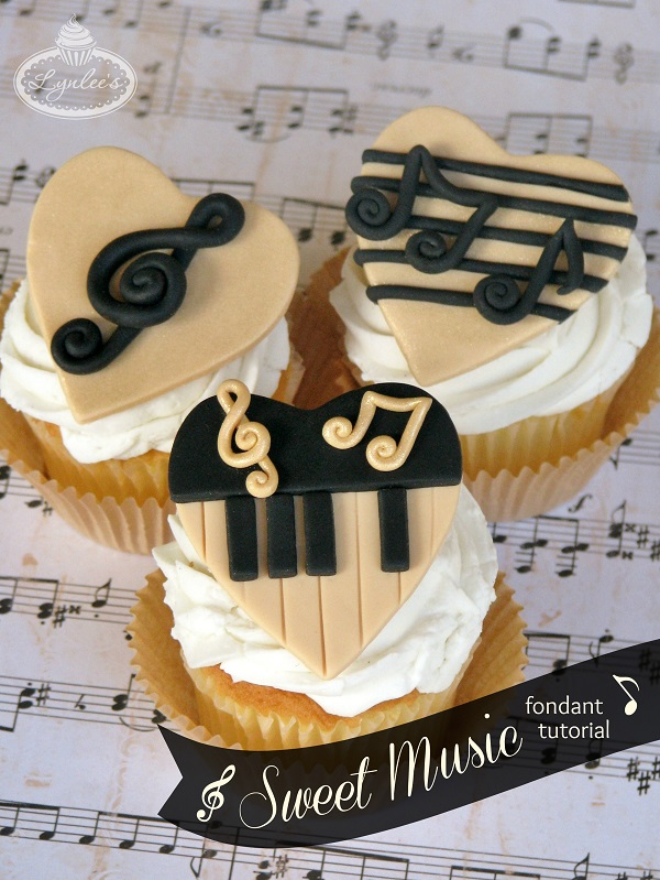 Music Cupcakes with Fondant Toppers Tutorial