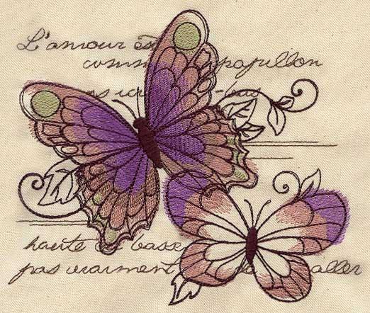 Urban Threads Parisian Butterflies