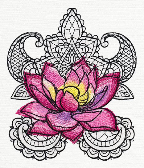 Painted Lotus by Urban Designs