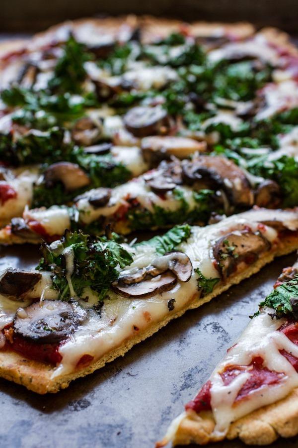 Homemade veggie pizza with gluten-free crust